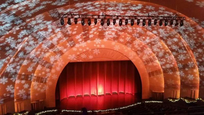 Seating view for Radio City Music Hall Section 3rd Mezzanine 5 Row G Seat 510