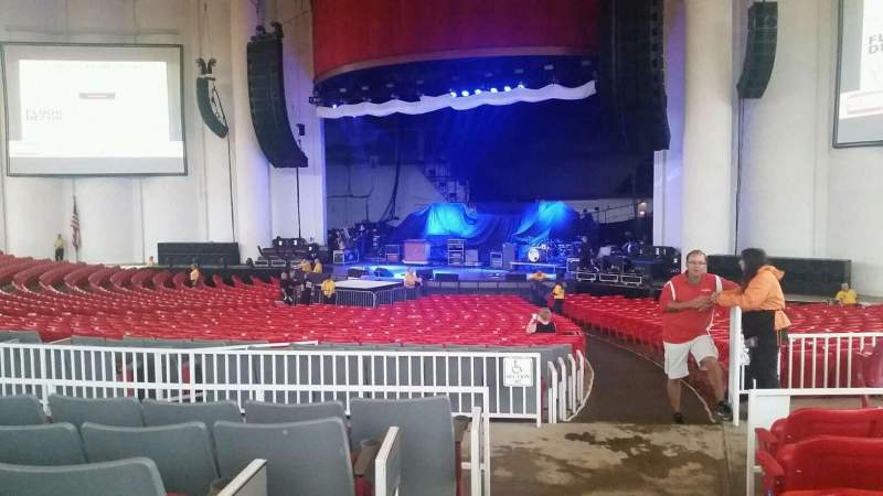 Seating view for PNC Bank Arts Center Section 201 Row F Seat 2
