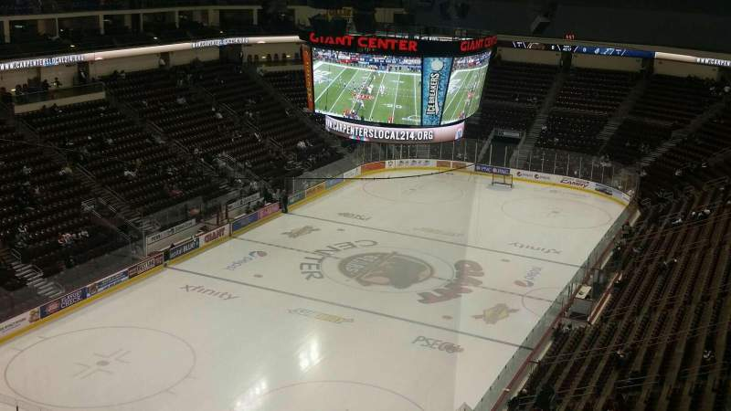 Seating view for Giant Center Section 202 Row J Seat 1