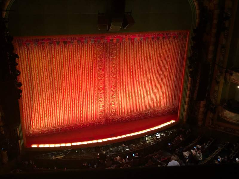 Seating view for New Amsterdam Theatre Section Balcony L Row A Seat 5