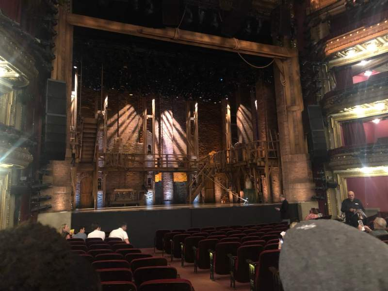 Seating view for CIBC Theatre Section Orchestra L Row Q Seat 1/3