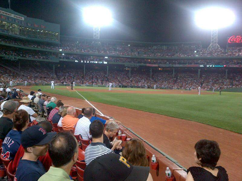 Seating view for Fenway Park Section Field Box 9 Row B Seat 8