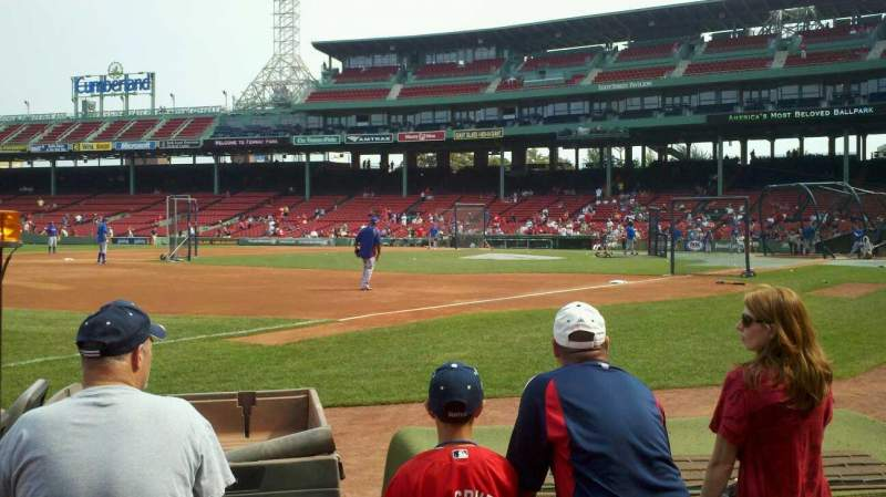 Seating view for Fenway Park Section Right Field Box 76 Row AAA Seat 2