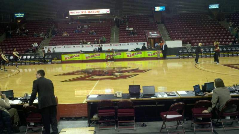 Seating view for Conte Forum Section x Row 5 Seat 3