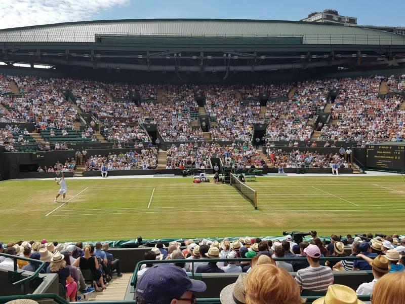 Wimbledon, Court No. 1, section: Gangway 10, row: D, seat: 85