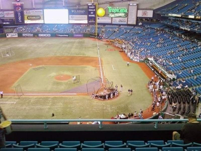 Seating view for Tropicana Field Section 307 Row J Seat 7