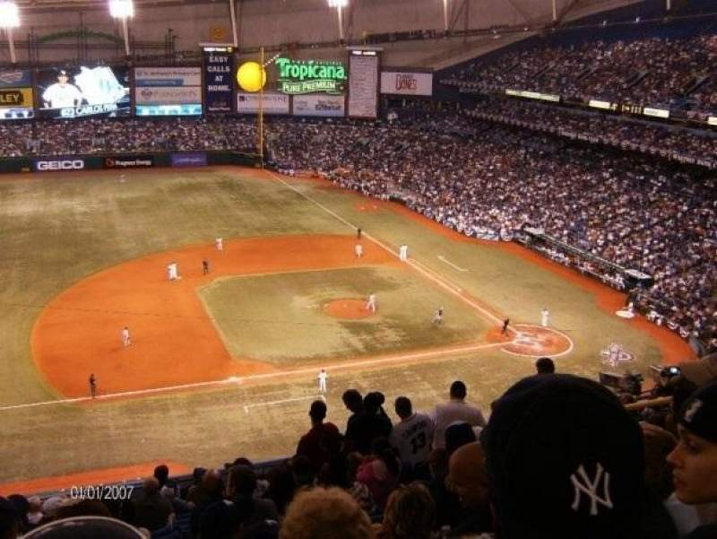 Seating view for Tropicana Field Section 313 Row P Seat 13