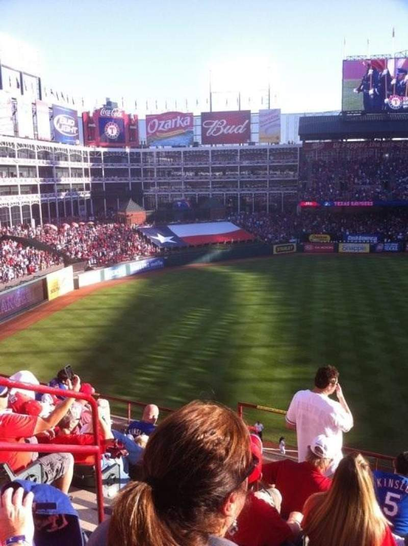 Seating view for Globe Life Park in Arlington Section 215 Row 7 Seat 3