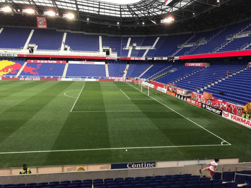 Seating view for Red Bull Arena (New Jersey) Section 107 Row 13 Seat 11