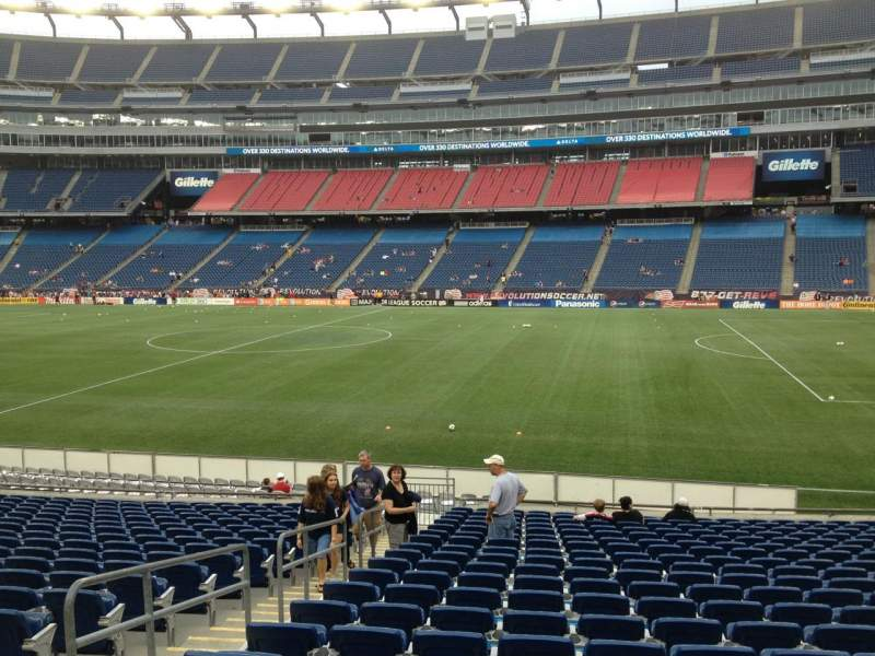 Seating view for Gillette Stadium Section 128 Row 20 Seat 18