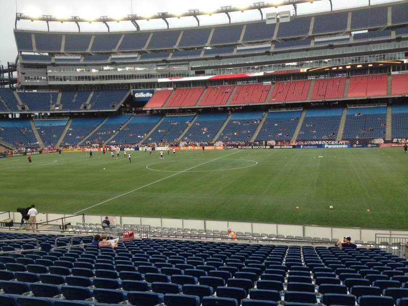 Seating view for Gillette Stadium Section 130 Row 20 Seat 7