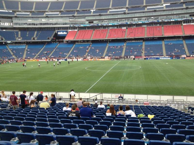 Seating view for Gillette Stadium Section 131 Row 20 Seat 7