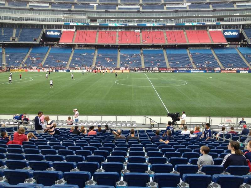 Seating view for Gillette Stadium Section 132 Row 20 Seat 8