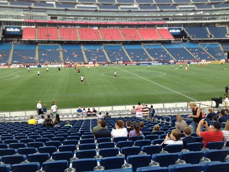 Seating view for Gillette Stadium Section 133 Row 20 Seat 8