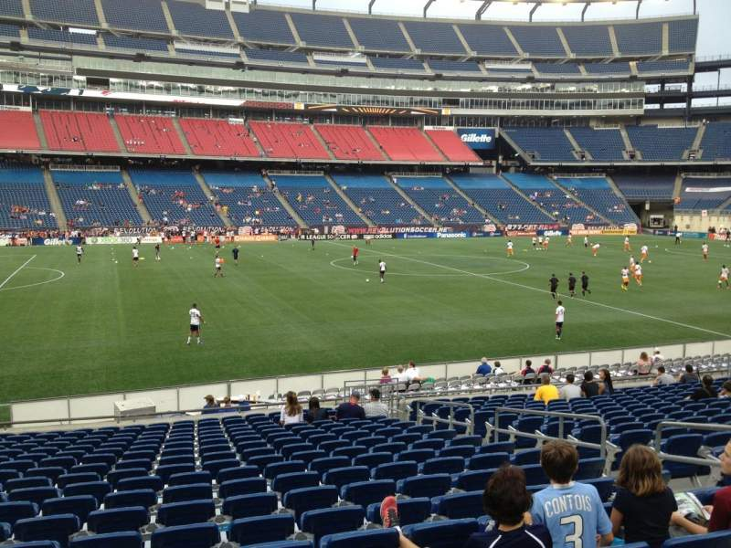 Seating view for Gillette Stadium Section 134 Row 20 Seat 7