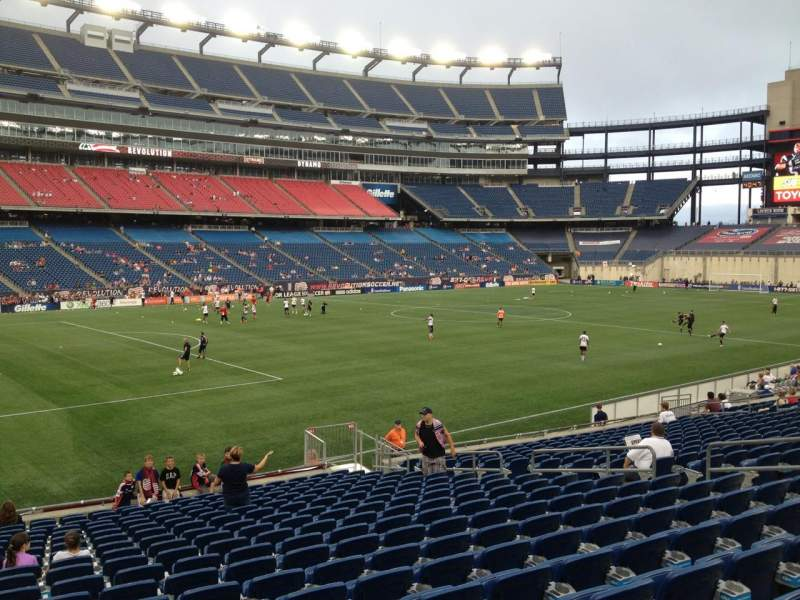 Seating view for Gillette Stadium Section 136 Row 20 Seat 15