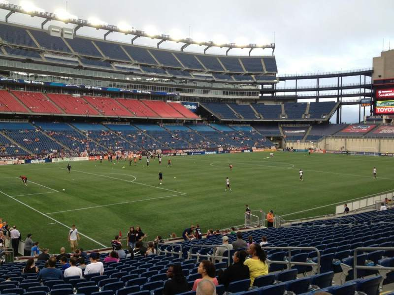 Seating view for Gillette Stadium Section 137 Row 22 Seat 10