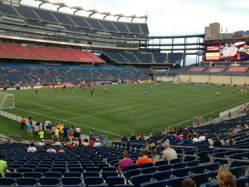 Seating view for Gillette Stadium Section 138 Row 24 Seat 10