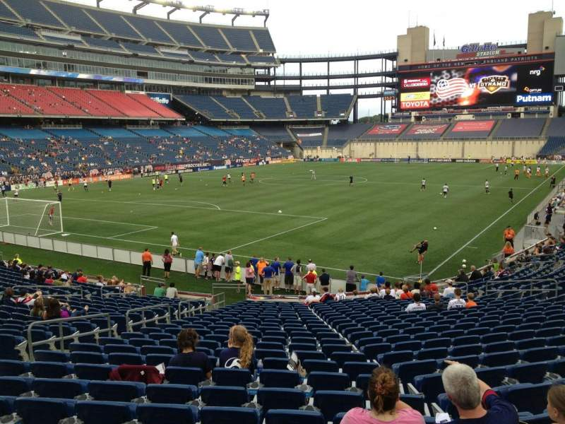 Seating view for Gillette Stadium Section 139 Row 24 Seat 11