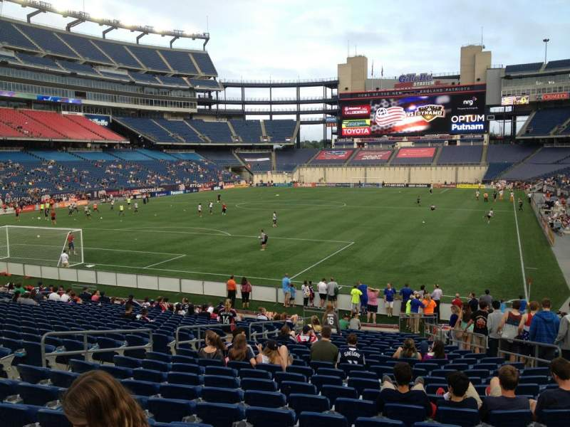 Seating view for Gillette Stadium Section 140 Row 23 Seat 10
