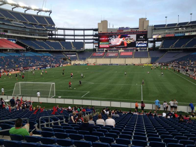 Seating view for Gillette Stadium Section 141 Row 24 Seat 13