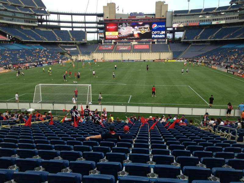Seating view for Gillette Stadium Section 142 Row 23 Seat 7
