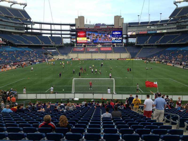 Seating view for Gillette Stadium Section 143 Row 24 Seat 6