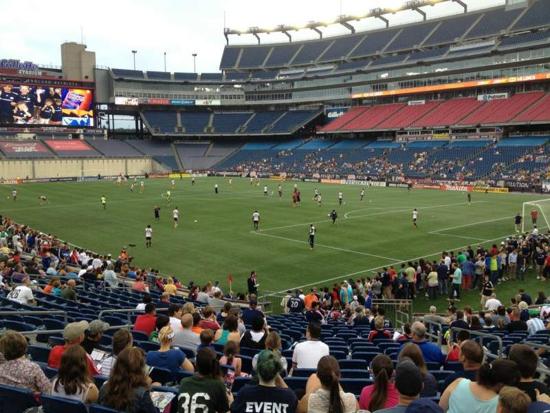 Seating view for Gillette Stadium Section 103 Row 21 Seat 5