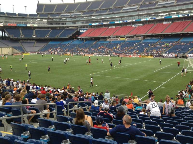 Seating view for Gillette Stadium Section 104 Row 19 Seat 11