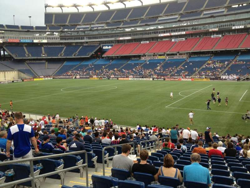 Seating view for Gillette Stadium Section 105 Row 25 Seat 12