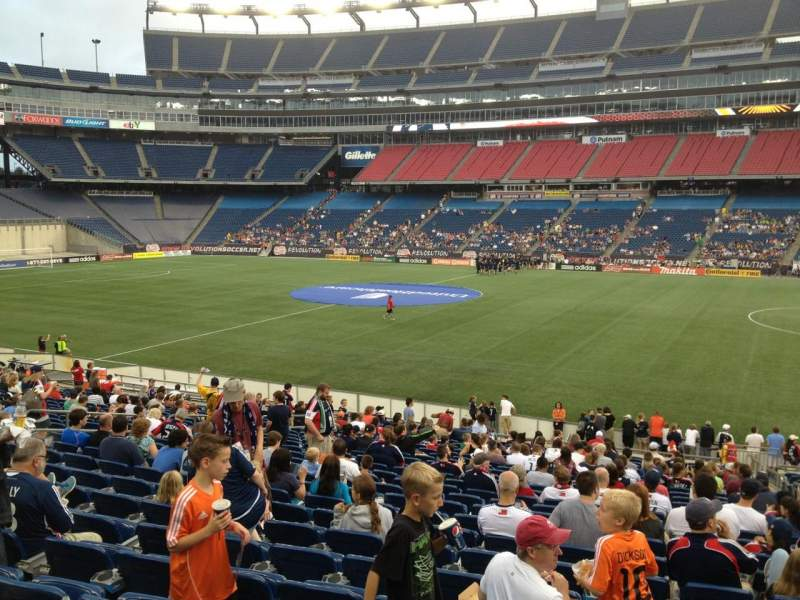 Seating view for Gillette Stadium Section 107 Row 24 Seat 3