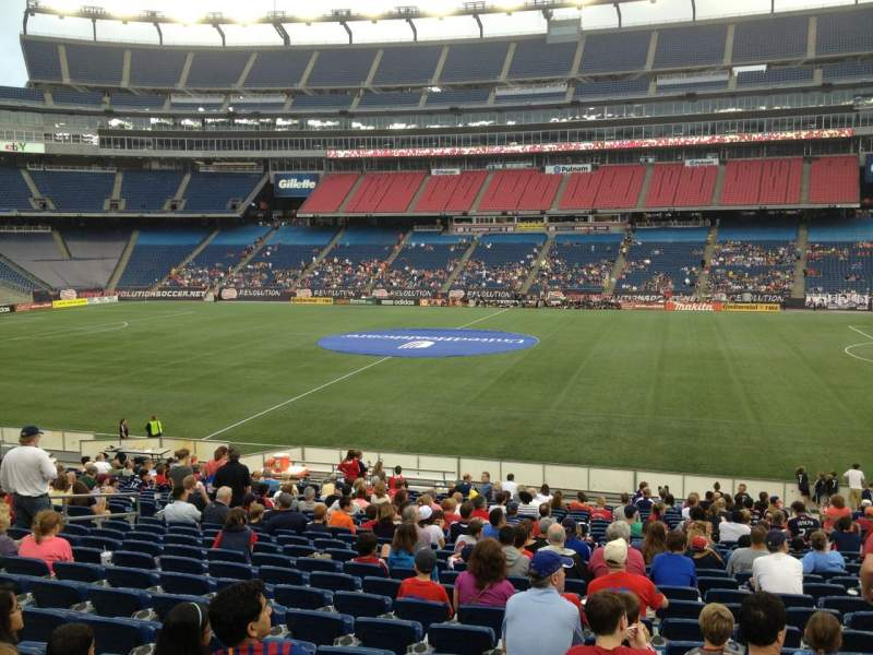 Seating view for Gillette Stadium Section 108 Row 24 Seat 8