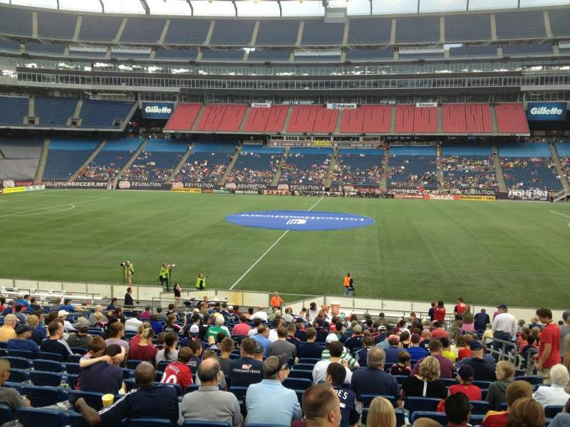 Seating view for Gillette Stadium Section 109 Row 24 Seat 8
