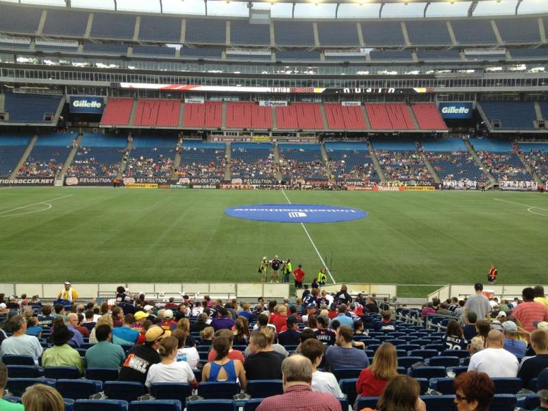 Seating view for Gillette Stadium Section 110 Row 24 Seat 8