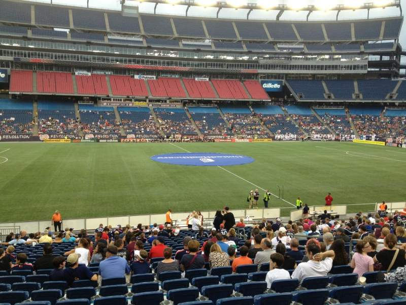 Seating view for Gillette Stadium Section 111 Row 24 Seat 10