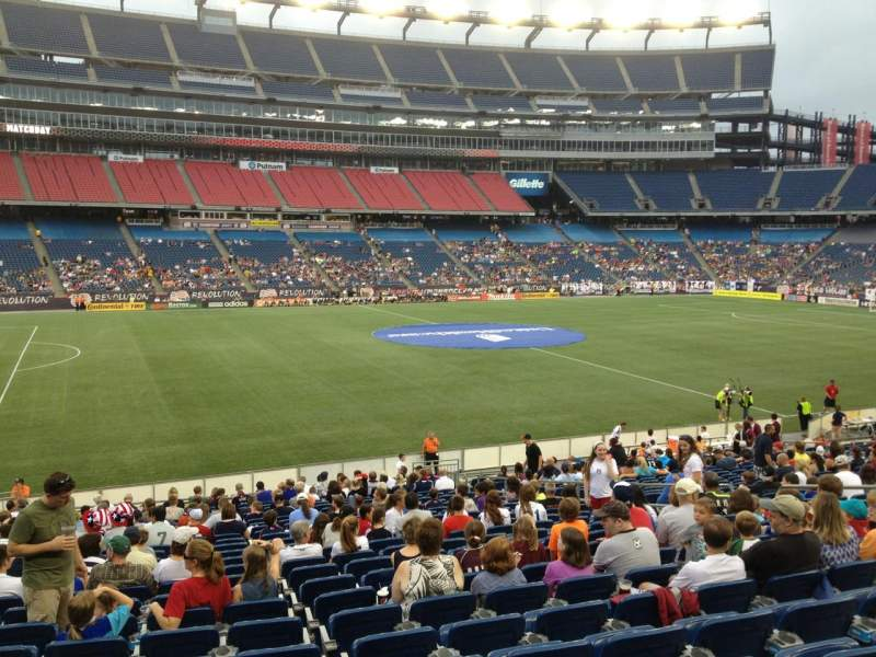 Seating view for Gillette Stadium Section 112 Row 24 Seat 13