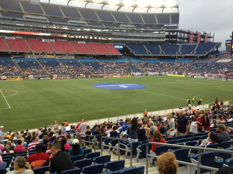 Seating view for Gillette Stadium Section 113 Row 24 Seat 4
