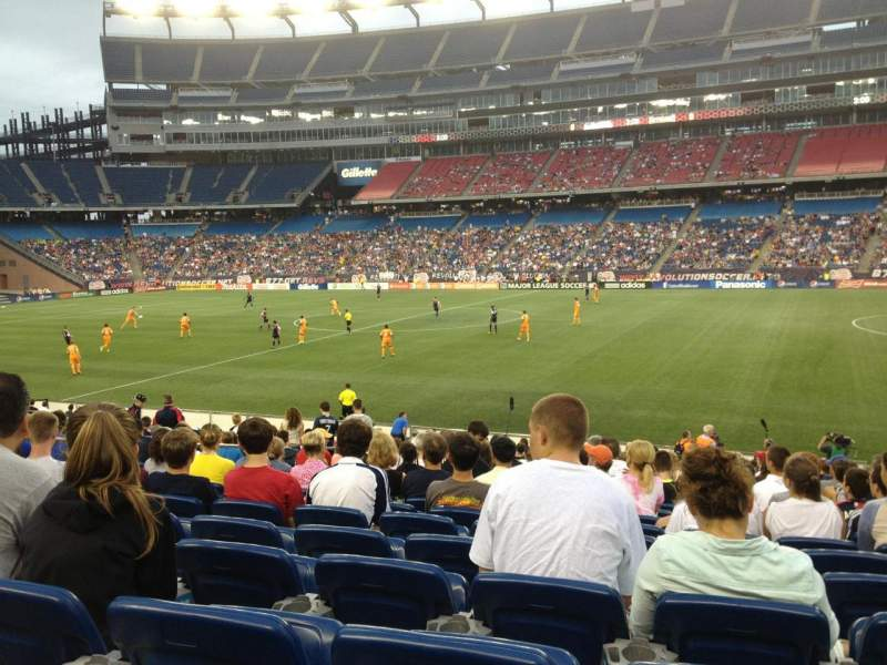 Seating view for Gillette Stadium Section 129 Row 20 Seat 11