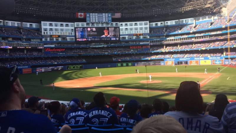Seating view for Rogers Centre Section 124r Row 31 Seat 9