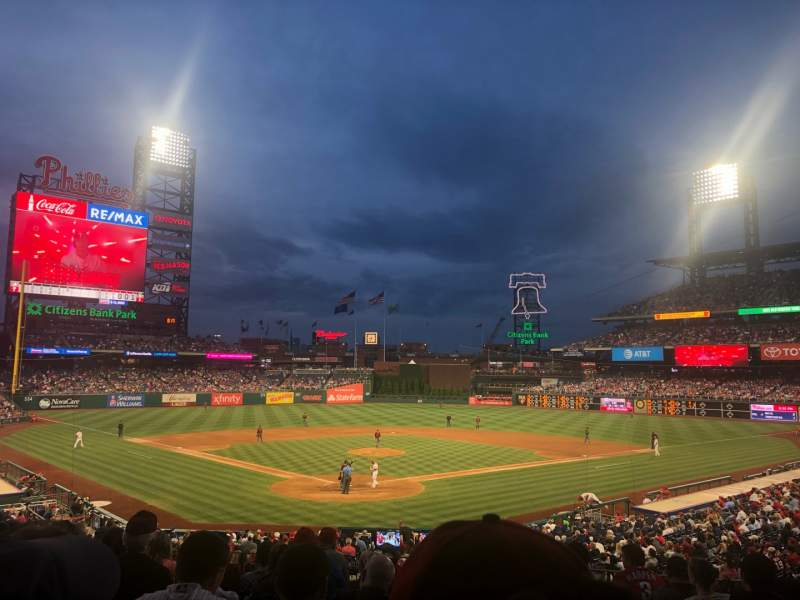 Seating view for Citizens Bank Park Section 123 Row 31 Seat 1