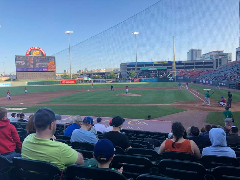 Seating view for Sahlen Field Section 109 Row L Seat 3