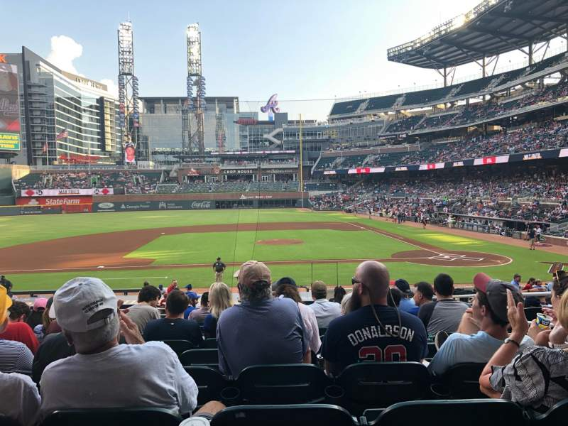 Seating view for SunTrust Park Section 131 Row 10 Seat 5