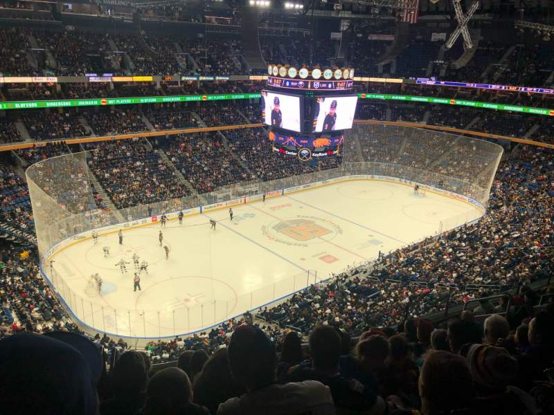 Seating view for KeyBank Center Section 309 Row 9 Seat 13