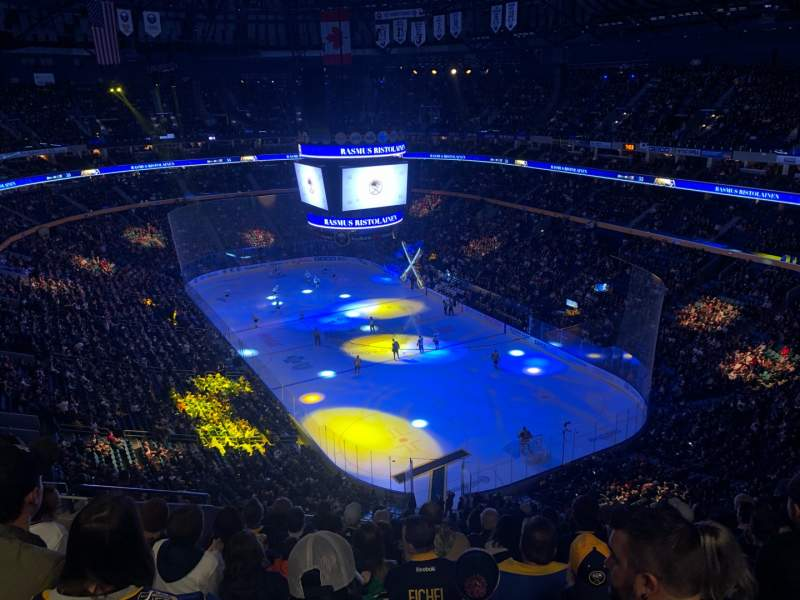 Seating view for KeyBank Center Section 315 Row 12 Seat 14