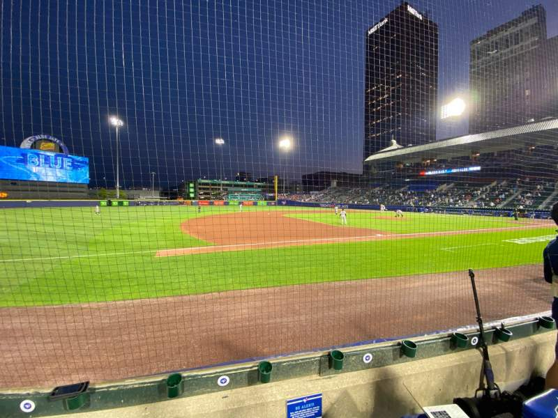 Seating view for Sahlen Field Section 115 Row D Seat 12