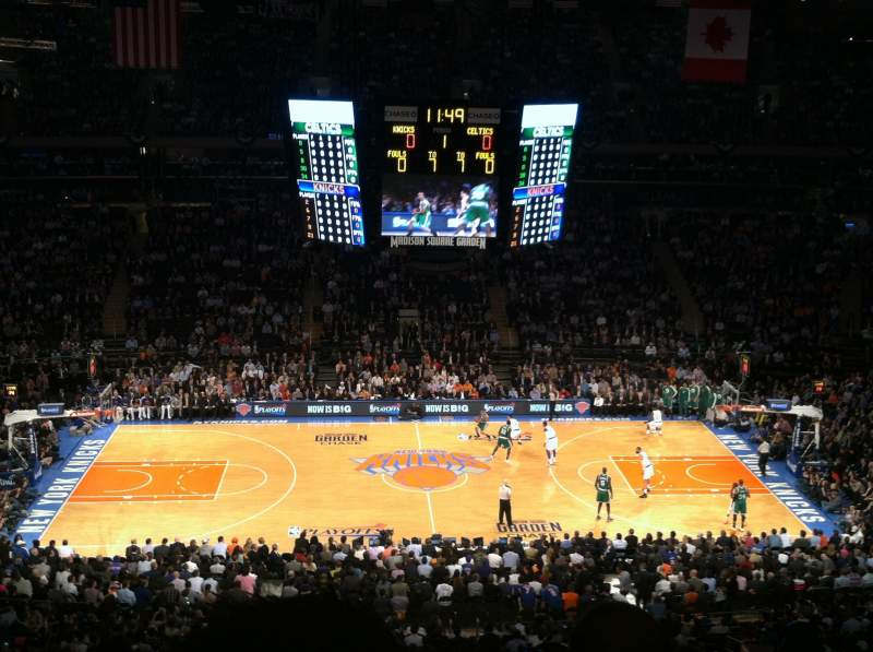 Madison square garden section 224 home of new york rangers new york knicks st john 39 s red for Ticketmaster madison square garden