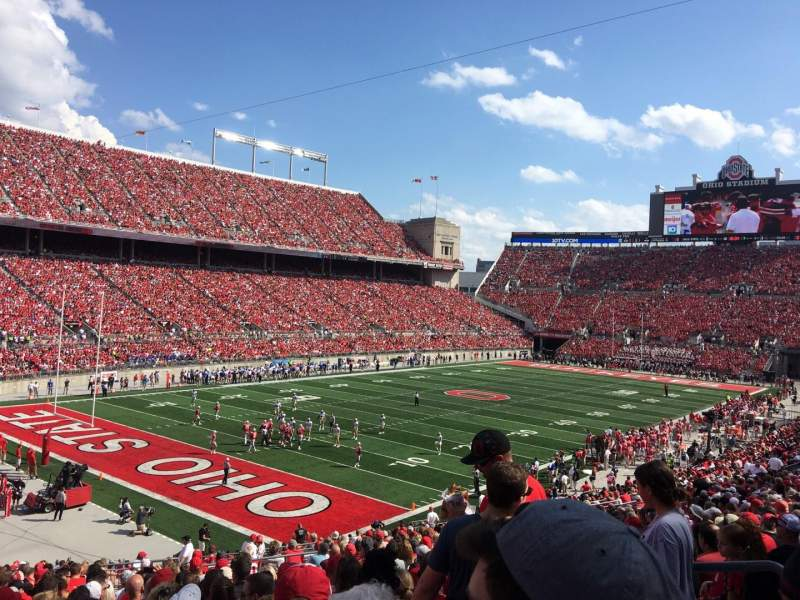Seating view for Ohio Stadium Section 9A Row 25 Seat 17