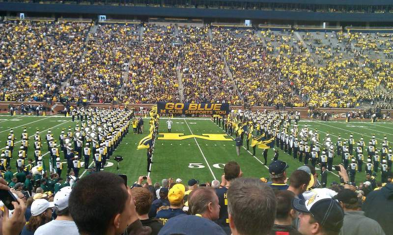 Seating view for Michigan Stadium Section 1 Row 23 Seat 5