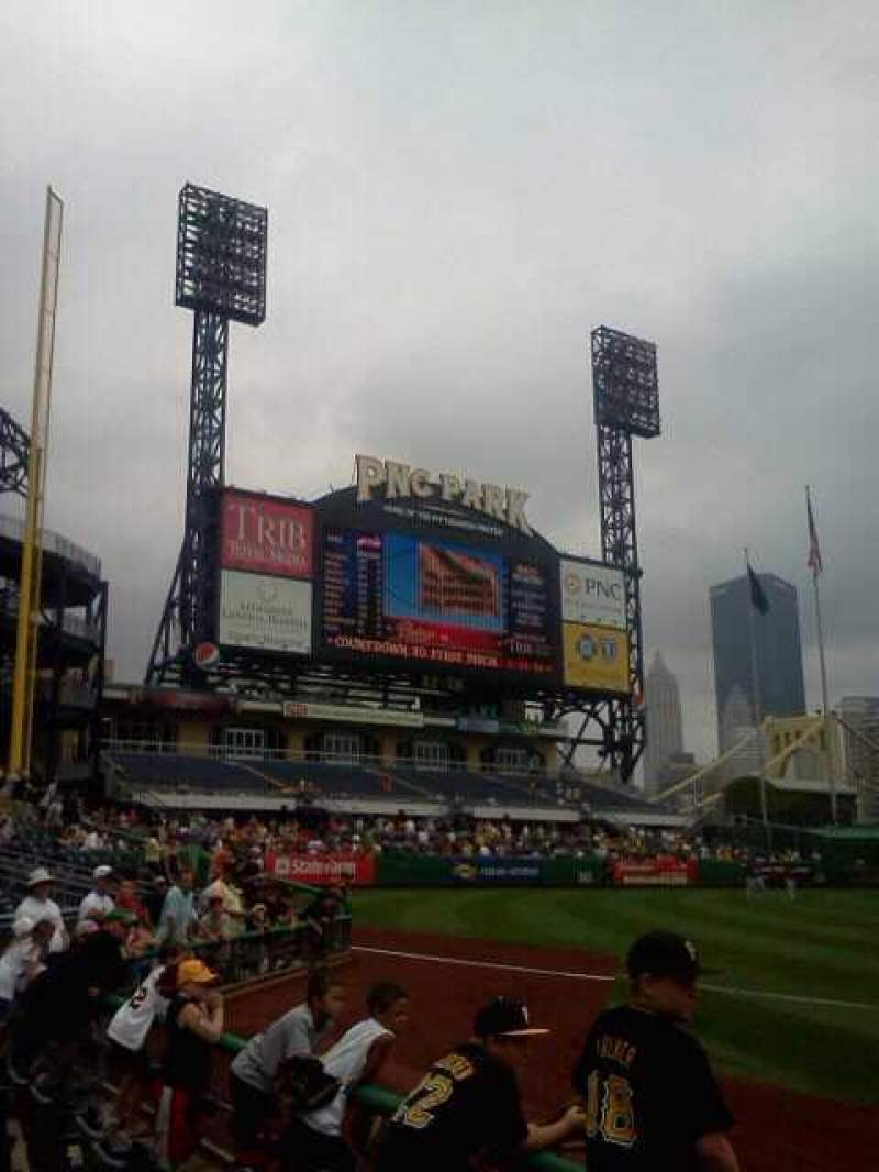 Seating view for PNC Park Section 128 Row u Seat 16