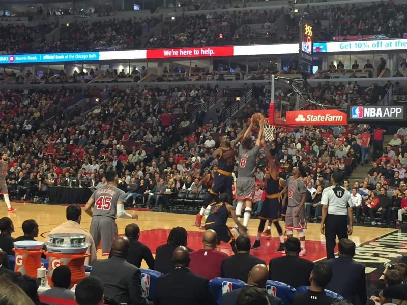 Seating view for United Center Section 121 Row 4 Seat 8